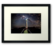 Split Point Lighthouse  Framed Print
