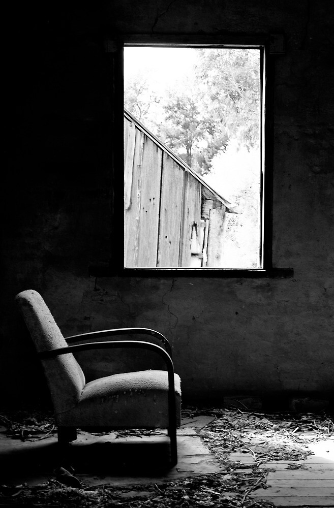 Solitary (B&W) - Shearers Quarters, Bathurst, NSW by First Light Imagery