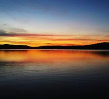 Sunset Lake by Alexandra Strömgren