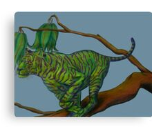 tiger on the twig Canvas Print