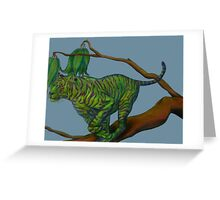 tiger on the twig Greeting Card