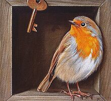 "Trompe L'oeil ""Key guardian'' by Elena Kolotusha"