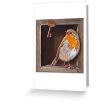 """Trompe L'oeil """"Key guardian'' Greeting Card"""