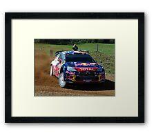 Sebastien Loeb Rally Australia Framed Print