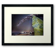 Milky Way Split Rock Framed Print