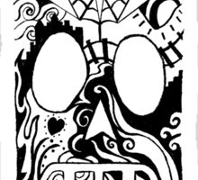 Calavera Black Sticker