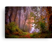 Fog On The Willamette River Canvas Print