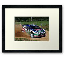 Mikko Hirvonen SS12 Rally Australia Framed Print