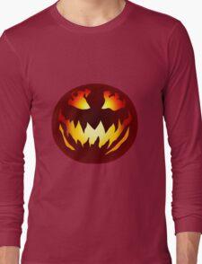 Scary Jack O' Lantern Long Sleeve T-Shirt
