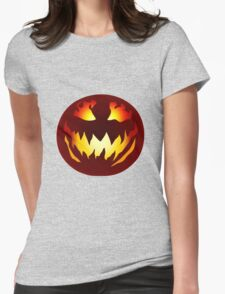 Scary Jack O' Lantern Womens Fitted T-Shirt