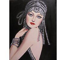 ROARING 20'S LADY Photographic Print