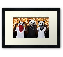 Panda Possé Framed Print