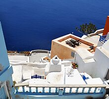 Beautiful view from Santorini, Oia by Katerina Vorvi