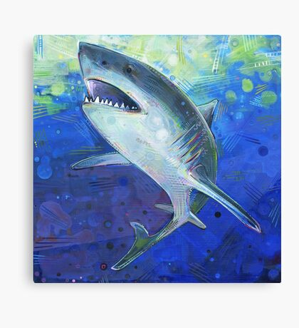 Great white shark painting - 2012 Canvas Print