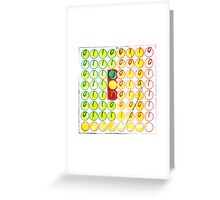 freeway pronto plate lithography Greeting Card