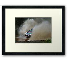 Mikko Hirvonen Rally Australia Framed Print