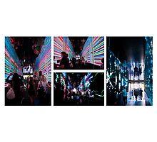 Brisbane Festival Liquid Interactive Lightscope  Photographic Print
