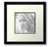 Carrie Underwood Sketch Framed Print