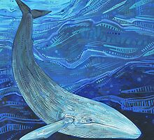 Blue whale by Gwenn Seemel