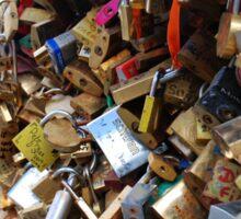 Locked up Love in Paris Sticker