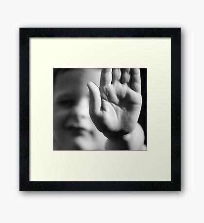 STOP !!! Framed Print