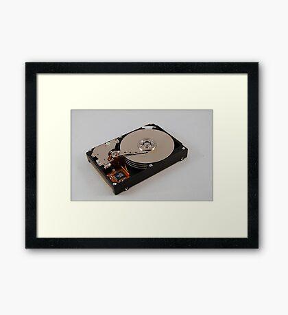 Laptop Drive Framed Print