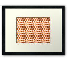 Firery Pinwheels Pattern Framed Print