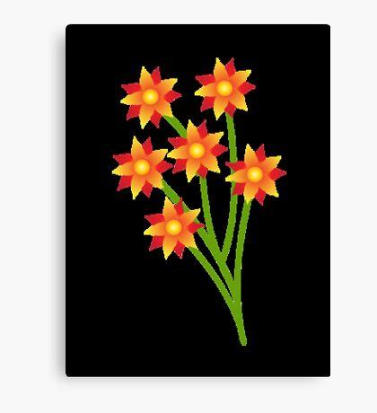 Firery Pinwheels Canvas Print