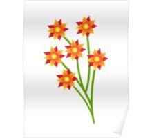 Firery Pinwheels Poster