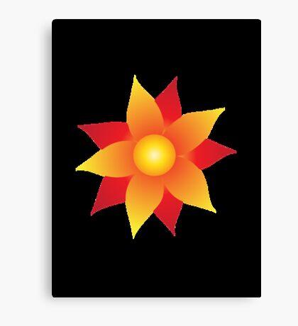 Firery Pinwheel Canvas Print