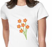 Firery Pinwheels Womens Fitted T-Shirt