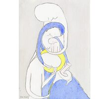 Joseph, Mary and Child, the Archangel Gabriel and the Lily Photographic Print