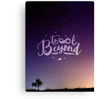 To Infinity and Beyond // Quote Toy Story Inspirational Canvas Print