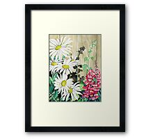 Daisies and Snapdragons Framed Print