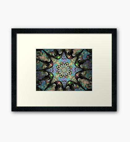 Bipolar Shapes-Mural 2 Flower Framed Print