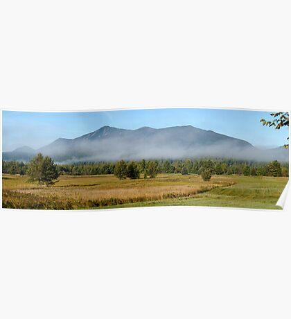 Morning Mist - Whiteface Mountain - GigaPan Poster