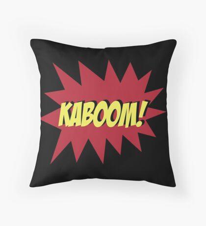 KABOOM Throw Pillow