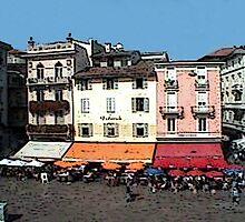 """Shops - Lugano, Switzerland"" by Michelle Lee Willsmore"