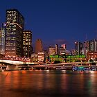 Southbank Parklands view to the city lights by Jaxybelle