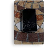 Cracked iPhone Canvas Print