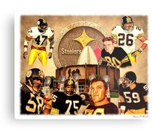 Pittsburgh Steelers Hall of Fame Defensive Legends Metal Print
