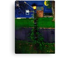 Blue House, Blue NIght Canvas Print