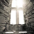 Light through castle window by Paul Richards