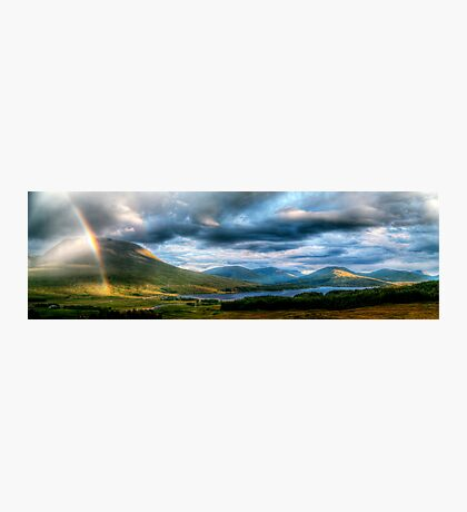 Rainbow Over Rannoch Moor Photographic Print