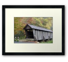 The Old Town Covered Bridge Framed Print