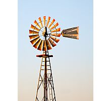 Classic Midwester American Windmill Photographic Print