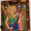 """Hollywood Hillbilly"" Make Up & Nail Polish Folk Art by Ambur Rockell"