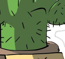 Free Hugs Saddest Cactus Sticker
