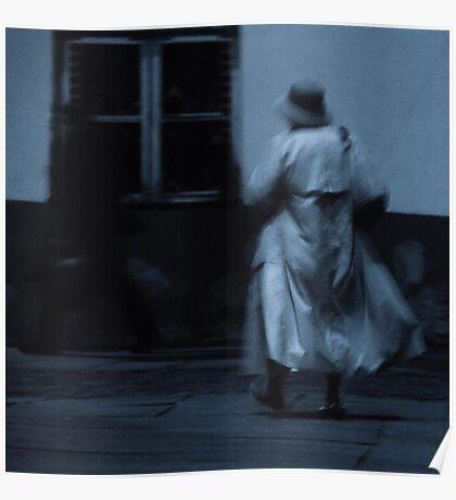 Hurrying woman. II Poster