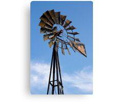 Tall Vintage Midwestern Windmill Canvas Print